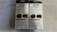 Lot of 2 808 Budz Mic'd Wired Headphones - NEW