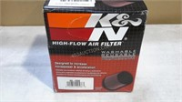 K & N High Flow Air Filter  - Washable NEW