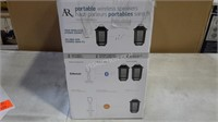 AR Portable 2 Pack Wireless Stereo Speakers