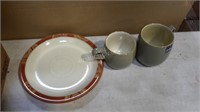 Lot of Various Plates and Mugs
