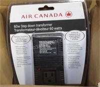 Air Canada 60W Step Down Transformer - NEW