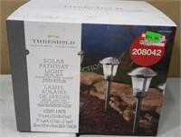 Set of 4 Threshold Solar Pathway Lights - NEW