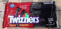 Lot of 24 Black Licorice Twizzlers - NEW