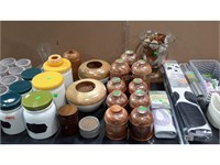 Lot of Assorted Vases, Planters and More
