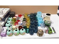Lot of Assorted Candle Holder + More