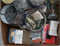Box Full of Nails, Nuts and Bolts Screws and Brads