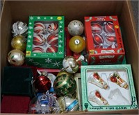 Large Box of Christmas Tree Ornaments