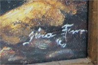 Stagecoach at Nighttime Framed Western Art Print