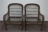 Brown Resin Wicker 3pc. Outdoor Lounge Set