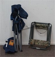 2 Portable Outdoor Folding Chairs