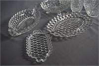 American Fostoria Group of Tableware Items