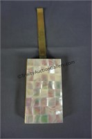 Vintage Mother of Pearl Wristlet Compact Purse