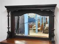 Antique Carved Mahogany Buffet with Mirror