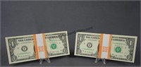 100 2009 Consecutive Number One Dollar Bills