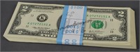 50 2003 Consecutive Number Two Dollar Bills