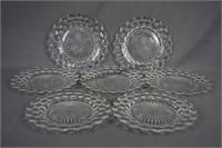 American Fostoria 7pc. Dinner Plate Set