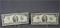 1976 Star Note and Unc. Two Dollar Bills