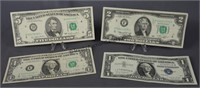 Star Note Silver Certificate, $1 $2 and $5 Bills