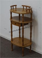 Oak Accent Lamp Table with Drawer