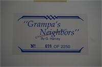 G. Harvey S/N Print Grandpa's Neighbors