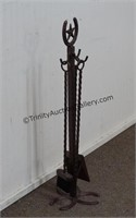 Iron Horseshoe and Star 4pc. Fireplace Tool Set
