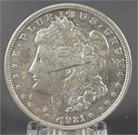 1921-D Morgan Unc. Silver Dollar