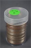1972-D BU Roll of 20 Eisenhower Dollars