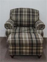 La Z Boy Oversized Chair Club Chair with Ottoman