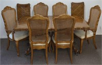 Queen Anne Formal Dining Table with 6 Chairs
