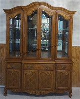 Queen Anne Formal China Cabinet and Hutch