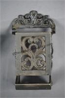Cast Iron Oil Lamp Wall Bracket & Match Box Holder