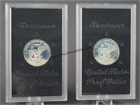 2 1972-S Eisenhower Silver Proof Dollars