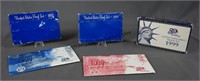 1969 1972 1999 Mint Proof Sets and 1999 Unc. Sets