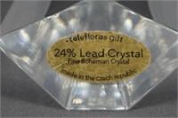 Teleflora Bohemian Lead Crystal Cross