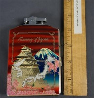 Vintage Longin Memory of Japan Lighter and Case