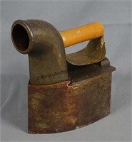 Antique Charcoal Heated Sad Iron and #5 Sad Iron