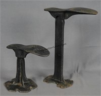 2 Antique Shoe Repair Cast Iron Shoe Last