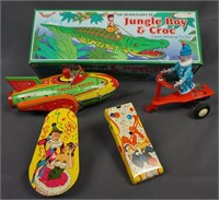 Vintage Tin Toy 4pc. Collection