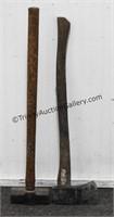 Single Bit Axe and 8lb. Sledge Hammer