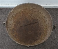 Antique Cast Iron 16in Footed Cauldron