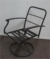 2 Metal Frame Swivel Base Patio Chairs