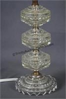 2 Vintage Mid Century Glass Boudoir Lamps