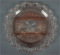 Anchor Hocking Lace Edge Pink Serving Plates