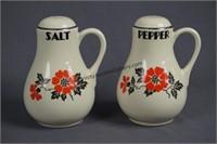 Hall Red Poppy Range Set Grease Jar Salt & Pepper