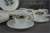Vintage Termocrisa 48pc. Christmas China Set