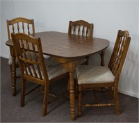 Walnut Look Dining Table and Chair Set
