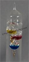 "Blown Glass Galileo 15"" Thermometer"