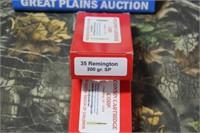 2 Boxes Wisconsin Cart. .35 Remington Ammunition