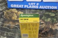 1 Partial Box Remington .38 S&W Ammunition