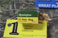 Mixed Lot 2 Boxes .41 Rem. Magnum Ammunition